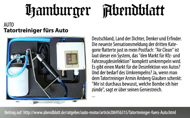 Hamburger Abendblatt: Tatortreiniger fürs Auto