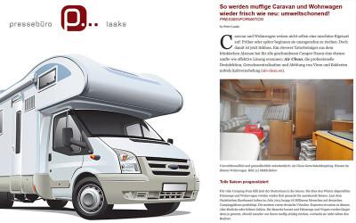 So werden muffige Caravan und Wohnwagen wieder frisch wie neu: umweltschonend!