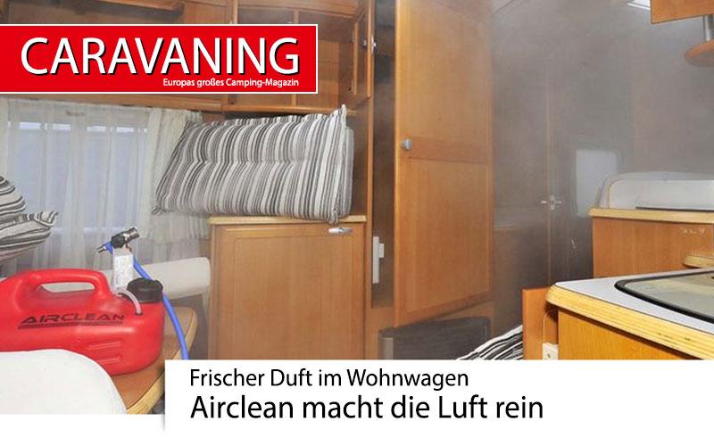 Frischer Duft im Wohnwagen – Airclean macht die Luft rein